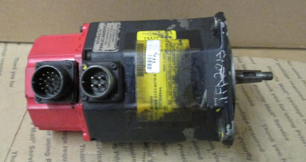Fanuc Ac Servo Motor Model A 3 3000 A06b 0123 B075 R 127 Volts Daves Industrial Surplus Llc