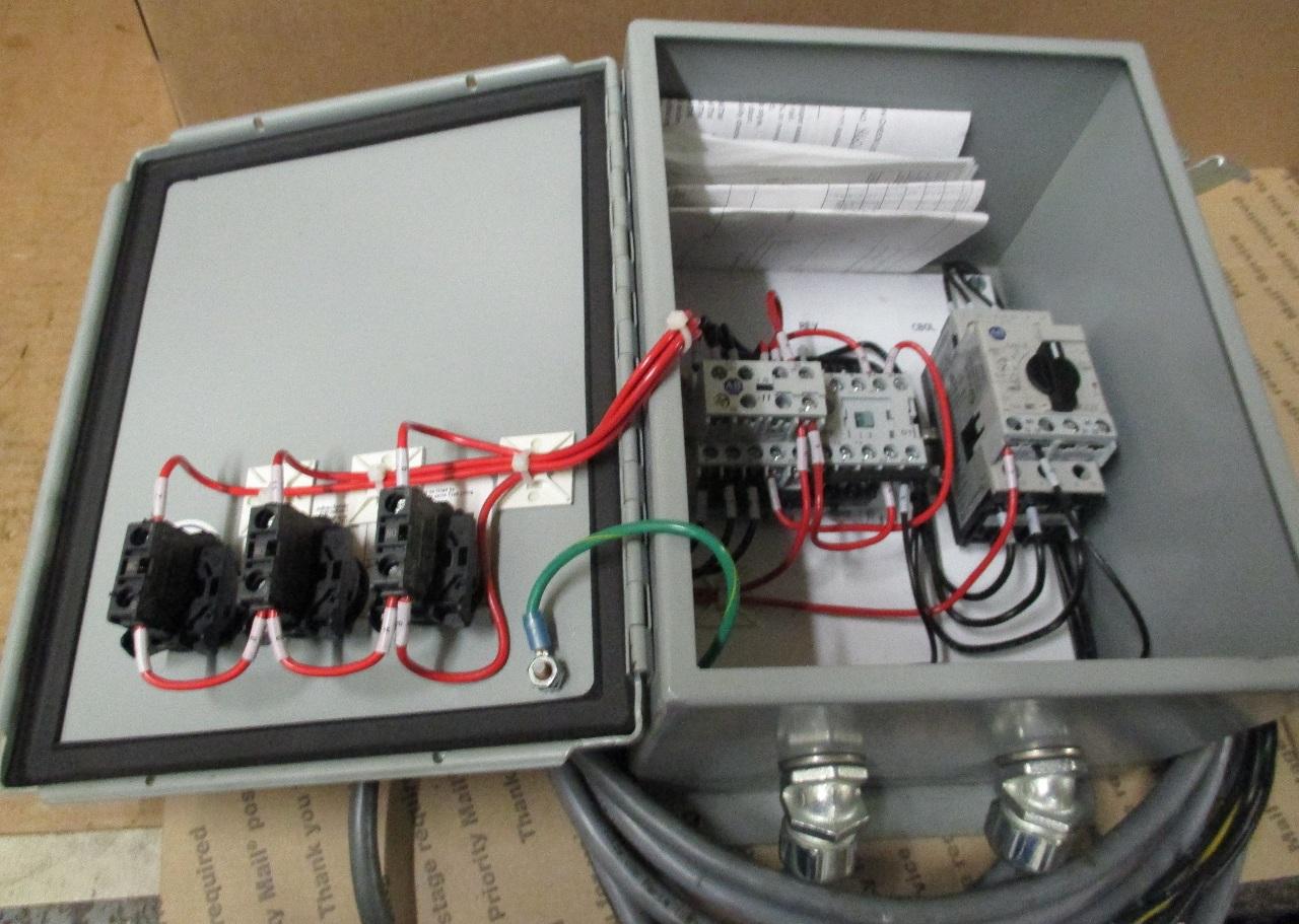 Starter Enclosure Box W   Allen Bradley Contactors