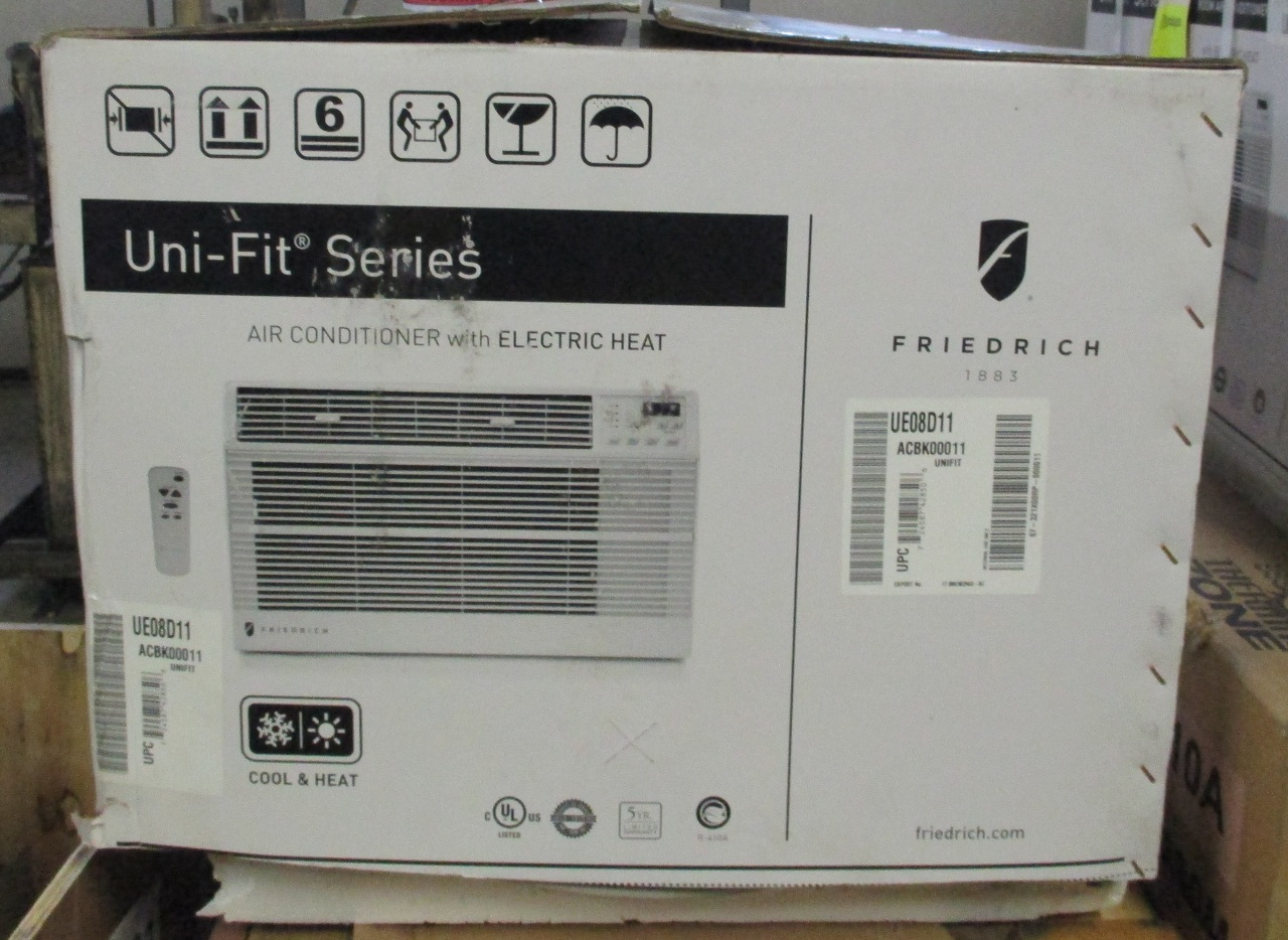 115 volt 9.4 EER Uni Fit series room air conditioner with electric #5F4D37