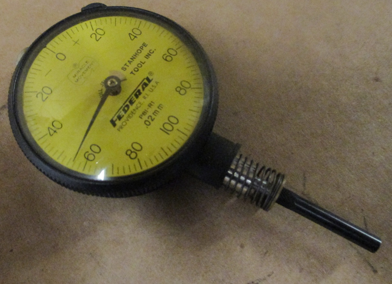 Federal Indicators Gages : Federal dial indicator gauge gage p r mm flat back