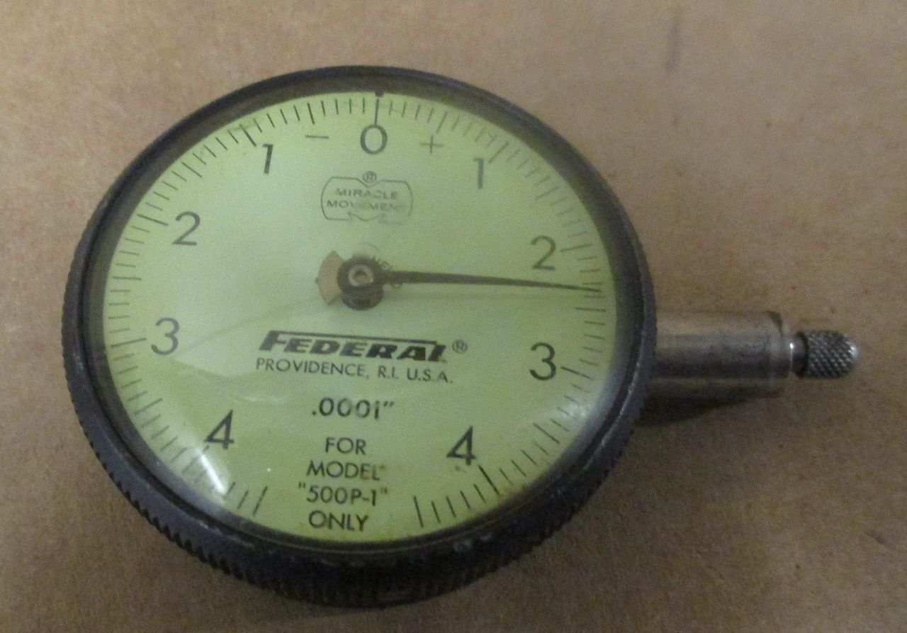 Federal Indicators Gages : Federal dial indicator gauge gage quot for model p