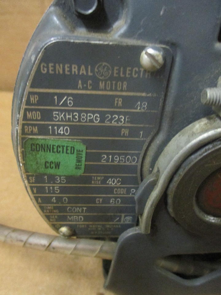 General electric 5kh38pg223f ac motor daves industrial for General motors phone number