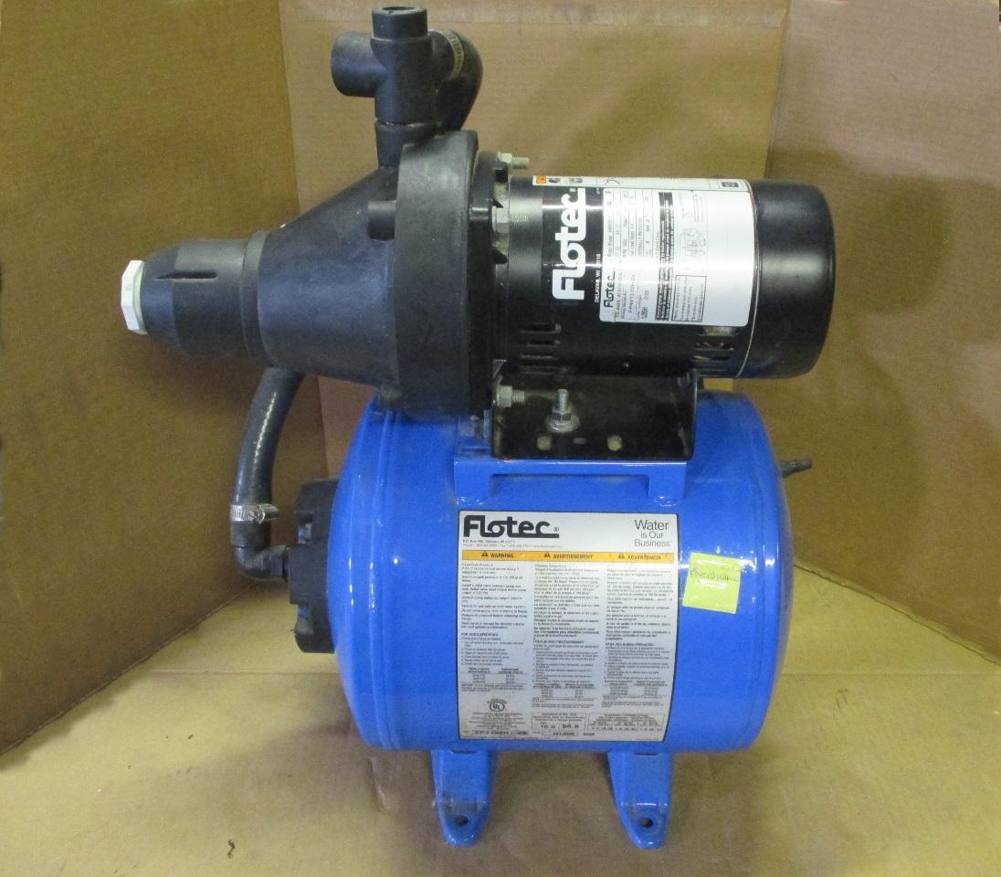 Flotec 1 2 Hp Shallow Well Jet Pump Composite Tank System