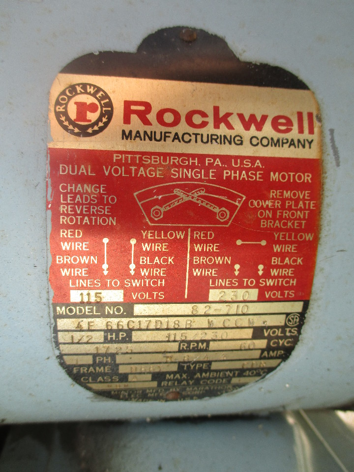 6 Head 1 2 HP 17 quot Delta Rockwell 17 600 Production