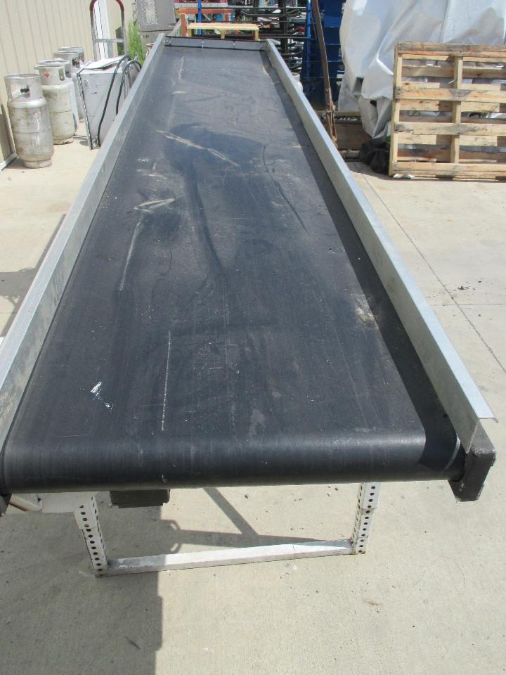 Mac Rubber Belt Motorized Steel Conveyor 24 Quot X 120