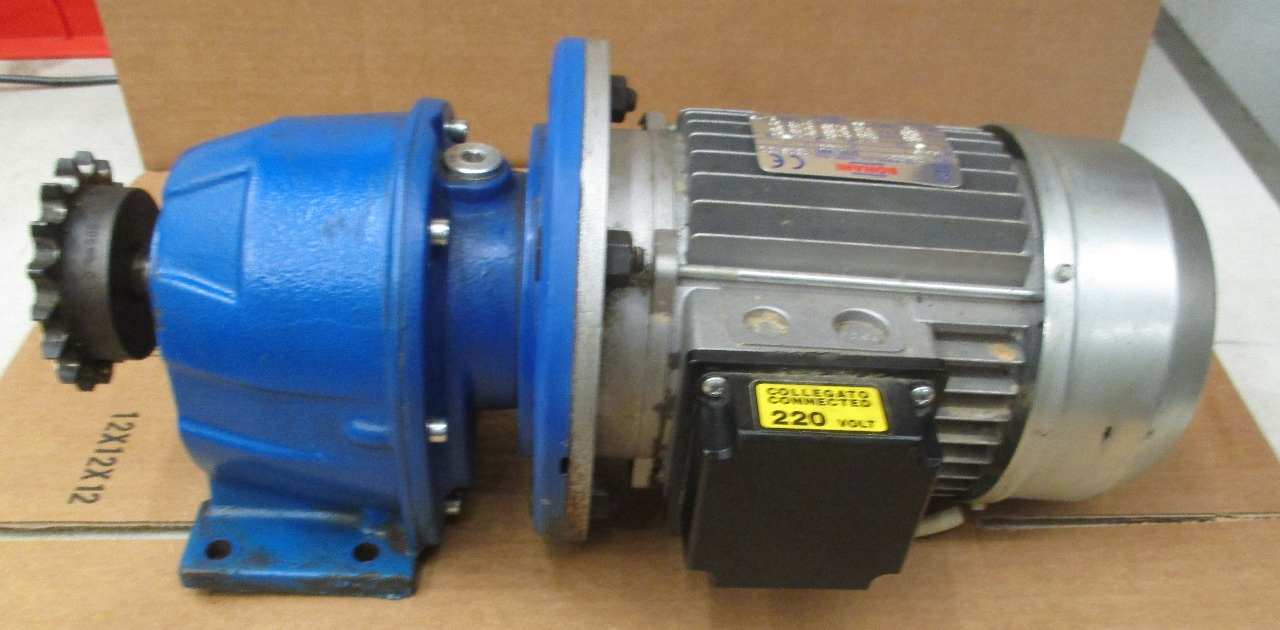 Bonani motor type tr80b4 with varmec gear reducer 9 92 for 1 4 hp gear reduction motor