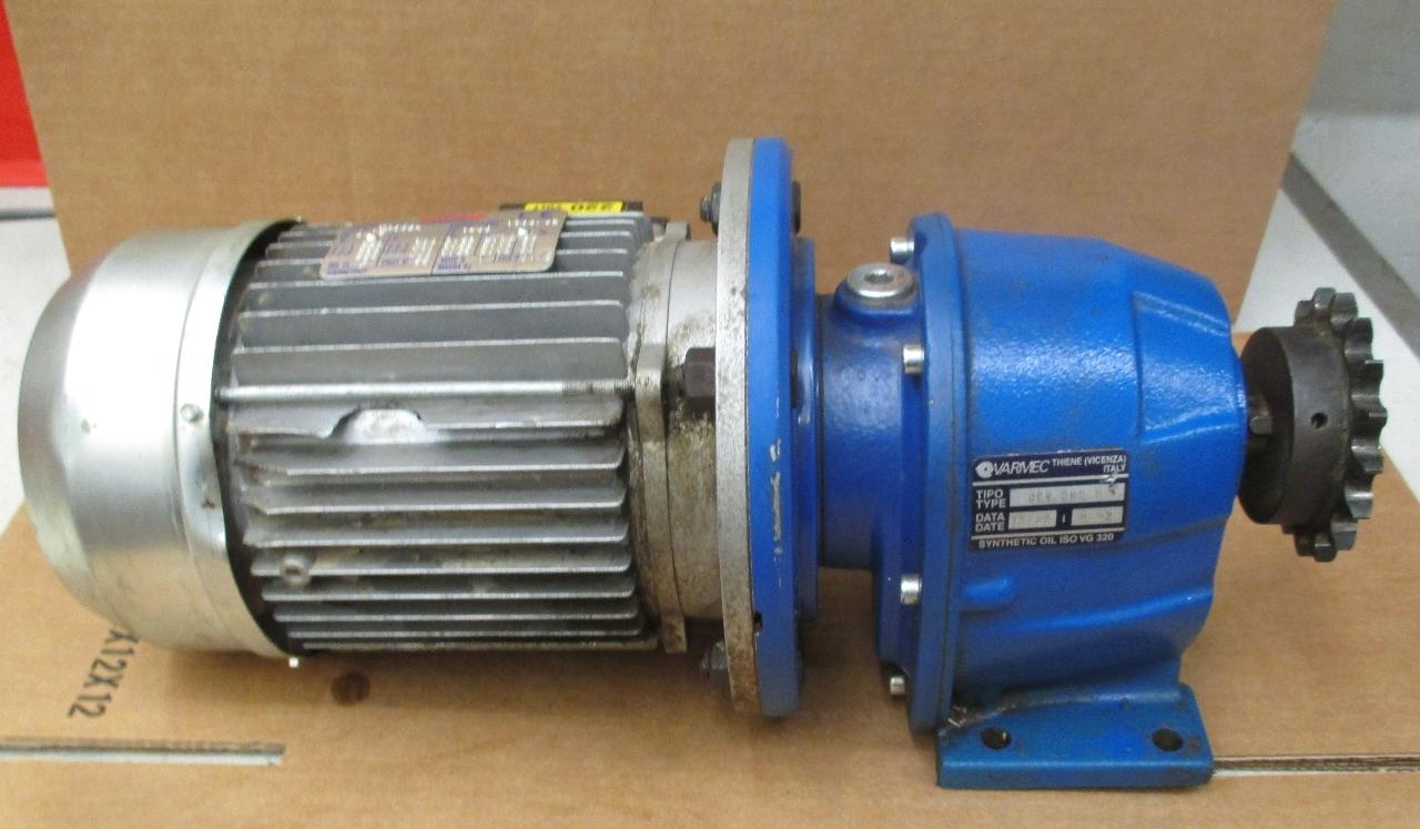 Bonani Motor Type Tr80b4 With Varmec Gear Reducer 9 92