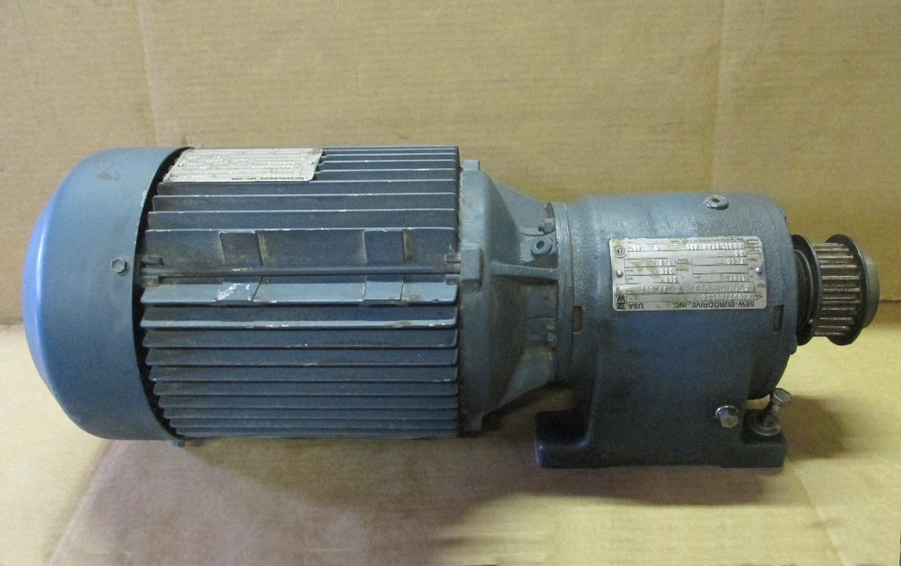 Sew Eurodrive Motor Dft100ls4 3hp With Gear Reducer