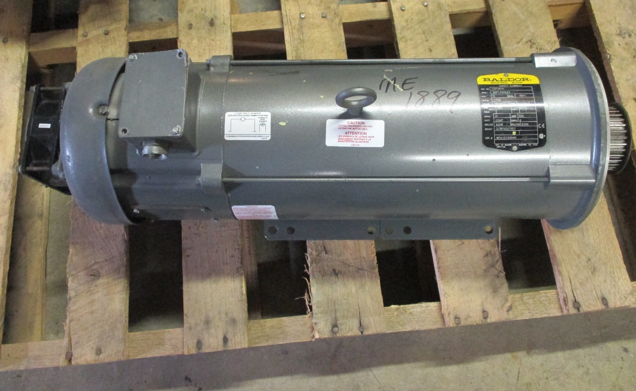 Baldor reliance model cdp3605 industrial dc 5hp motor for Baldor industrial motor parts