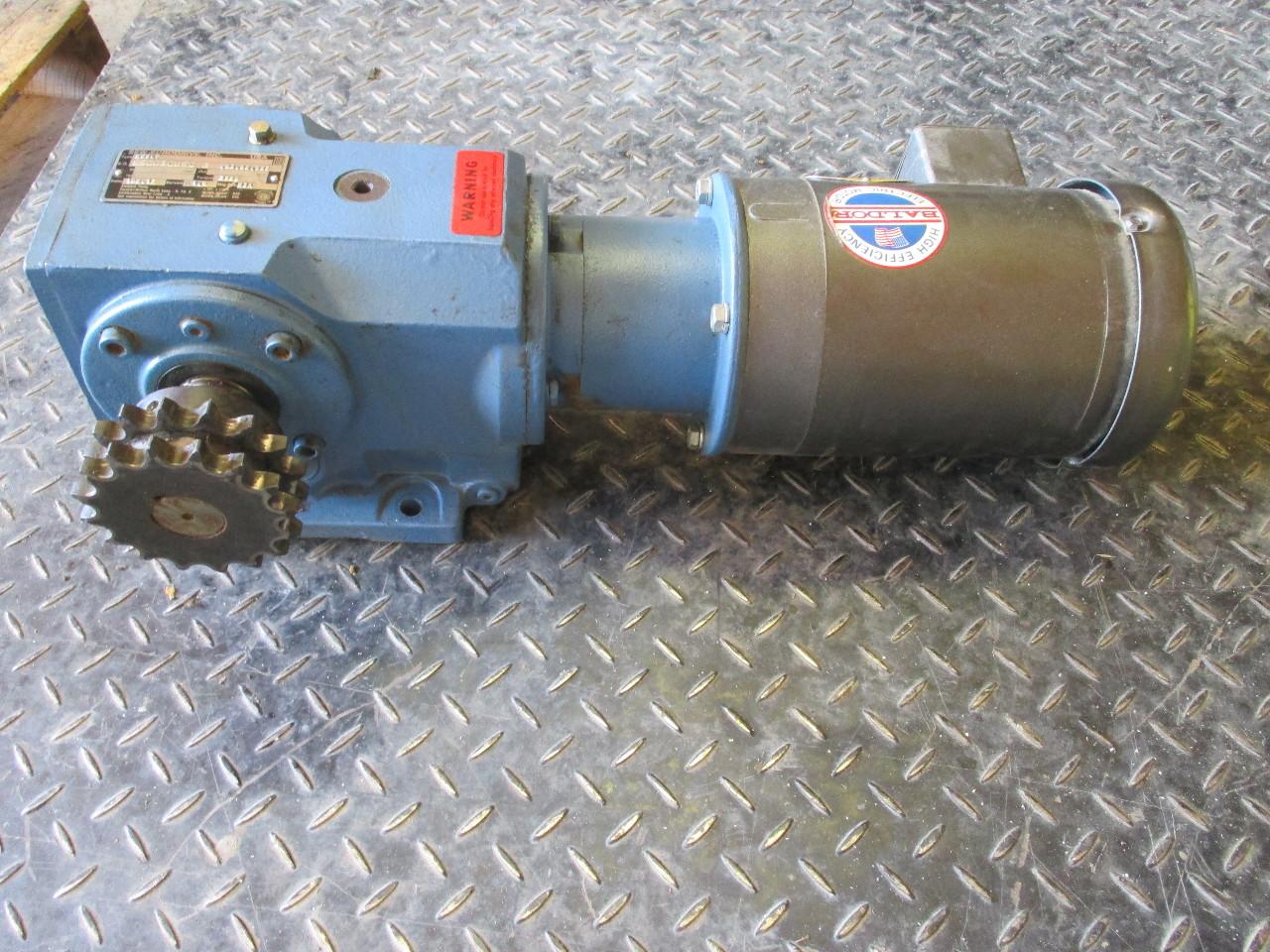 Baldor ac motor vm3546 1 hp sew eurodrive k66lp speed for Baldor 15 hp motor