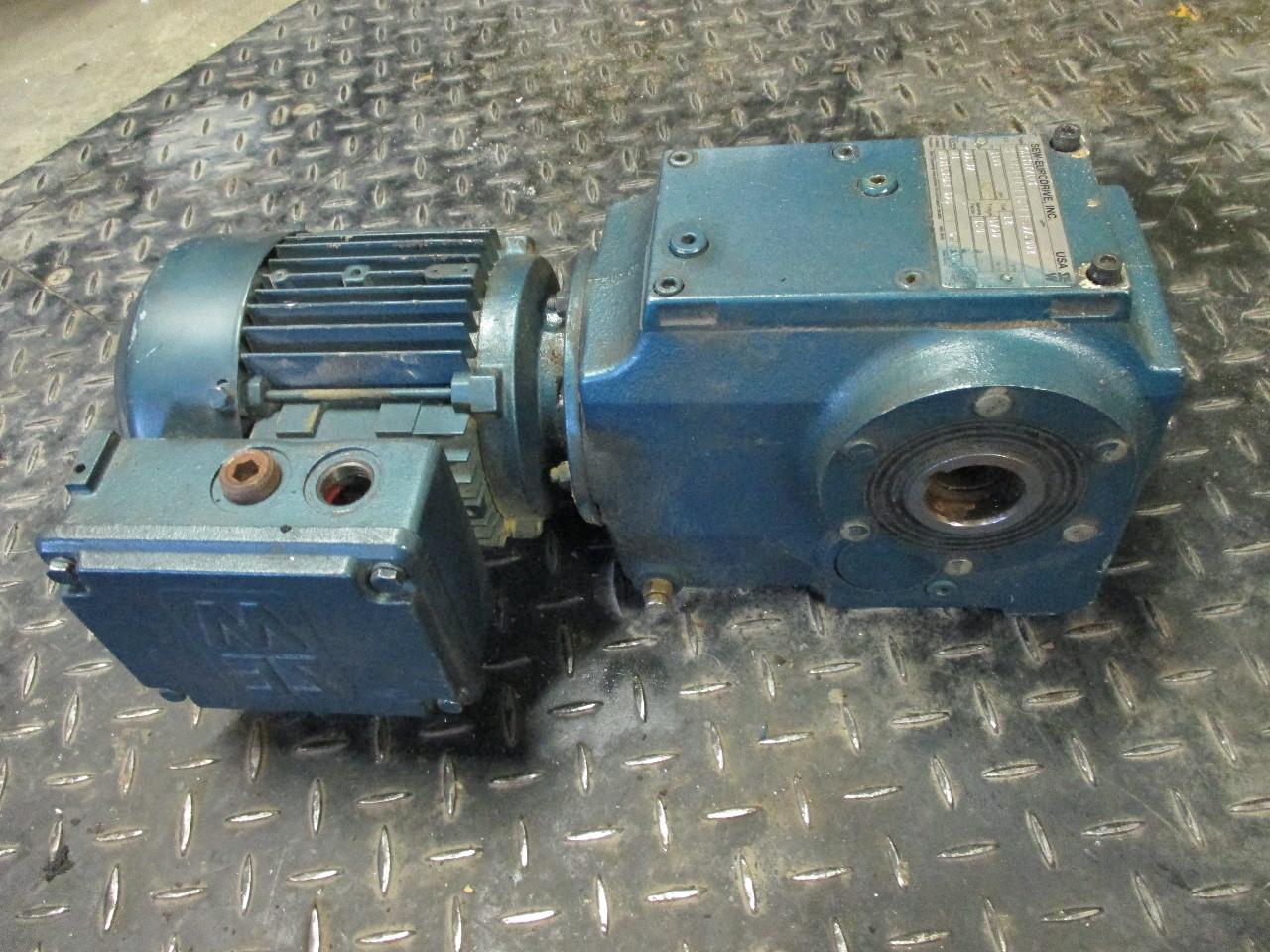 Sew Eurodrive Dft71d6 Gear Motor 33hp 1100 Rpm 230 460v
