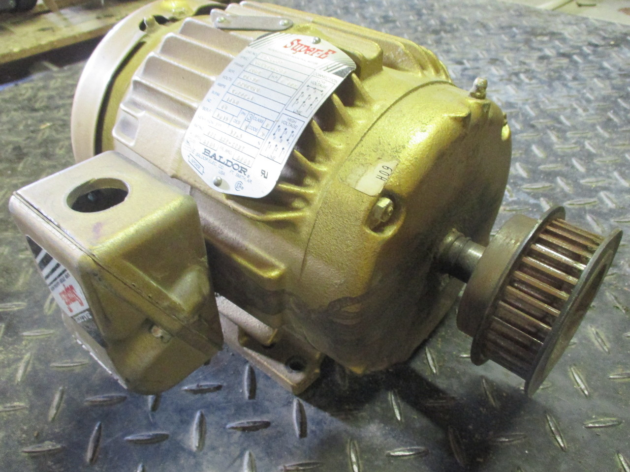 Baldor super e em3584t electric motor 1 1 2hp 3phase 230 for Baldor electric motor parts