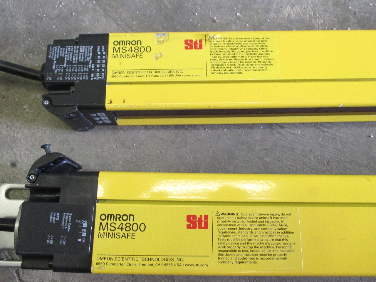 Omron Sti Light Curtain Omron SSR