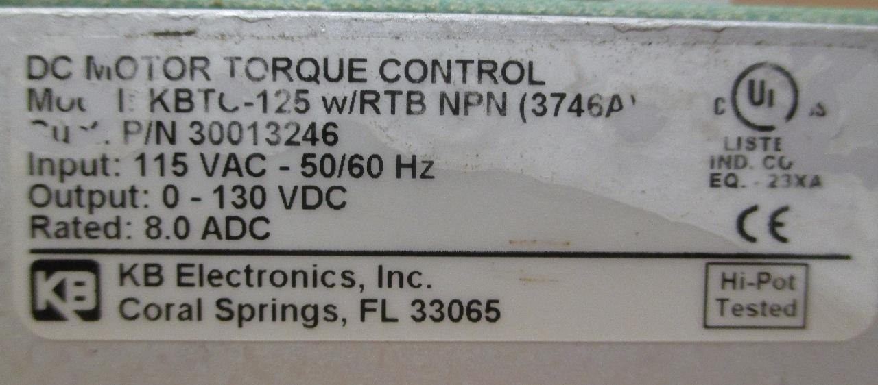 Kb Electronics Dc Motor Torque Control Kbtc 125 Daves