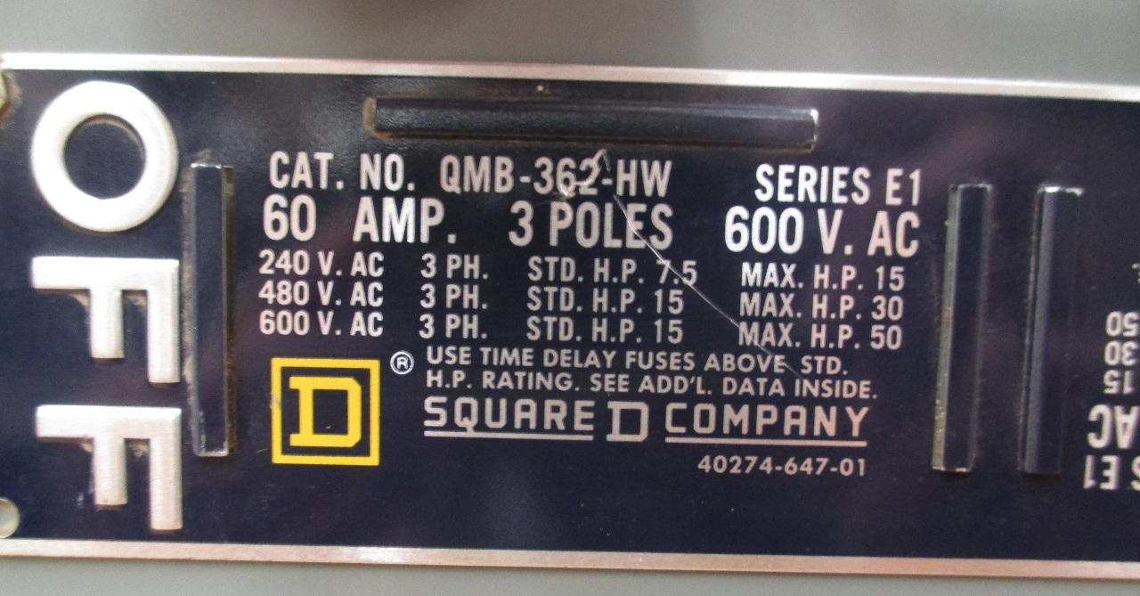 Square d cat qmb 362 hw panel board series e1 600v 60 amp 3 poles square d cat qmb 362 hw panel board series e1 600v 60 amp 3 sciox Images