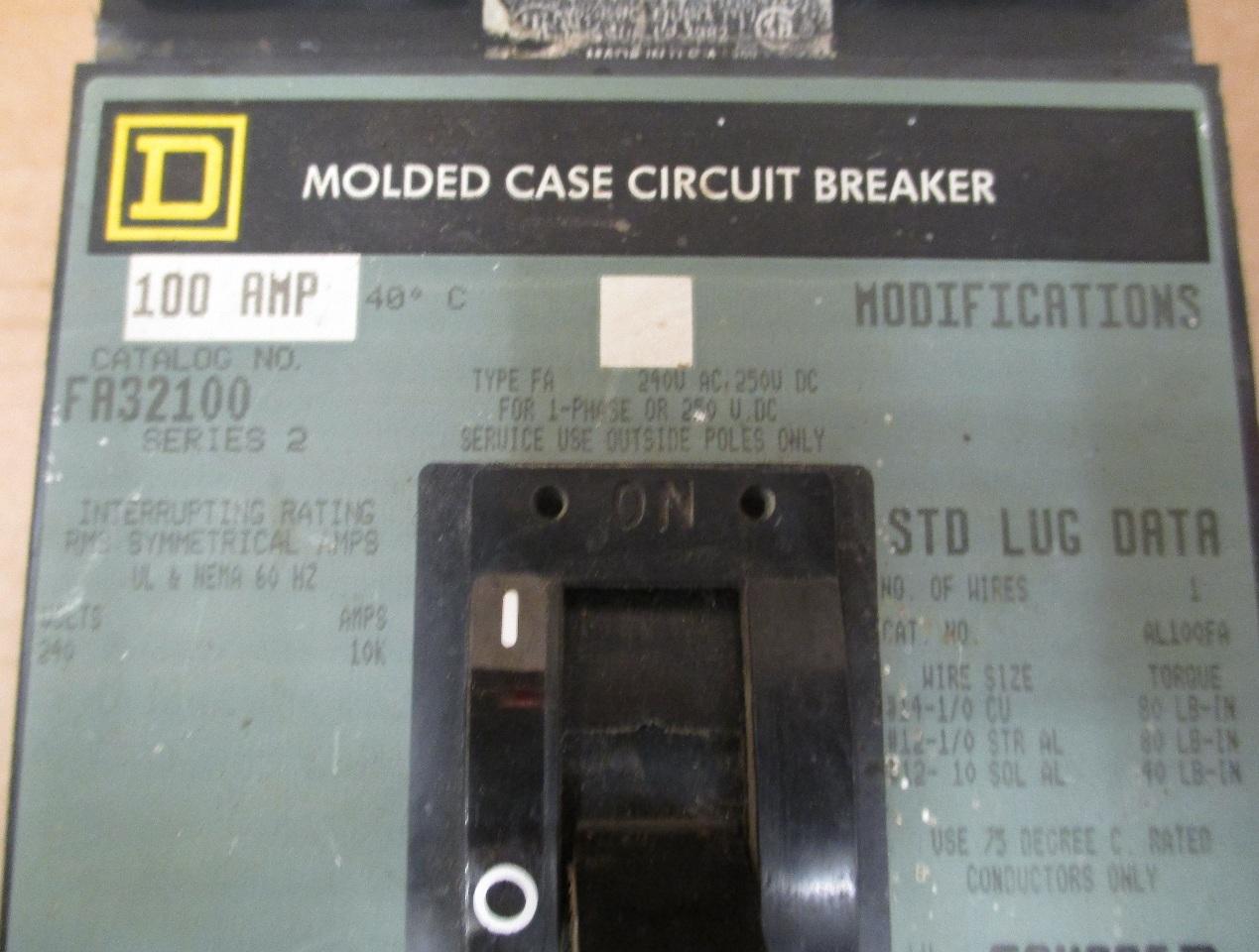 Circuit Breaker 100 Amp 3pole Qo3100 Magnetic Circuit Breakers