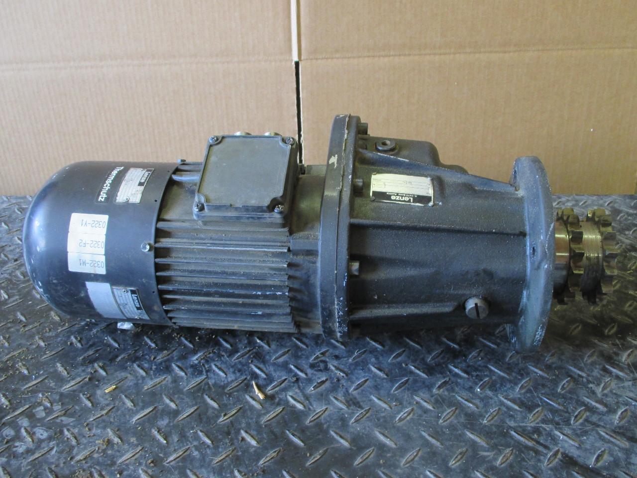 Lenze A 4470 Gear Box With Motor B9sfg42 005 H