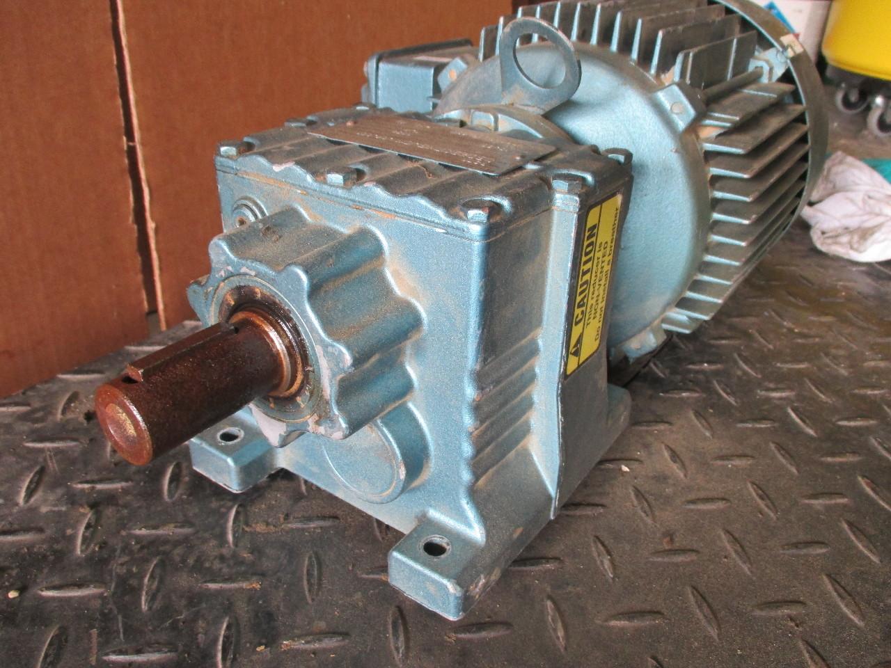 Sew Eurodrive R27a Inline Gear Motor 1720 Rpm 2 Hp Dft90l4