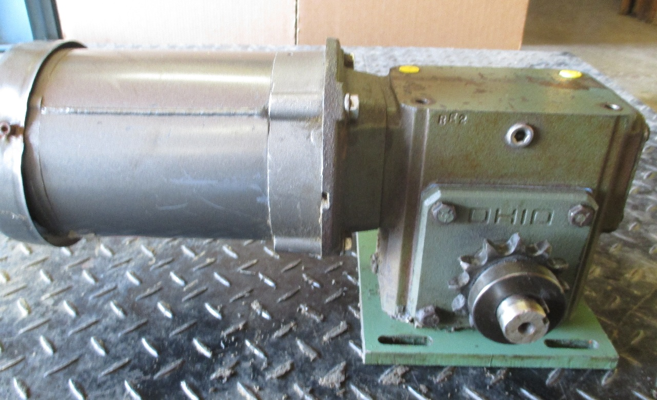 Baldor electric motor w right angle ohio gearbox hp 5 3 for Right angle electric motor