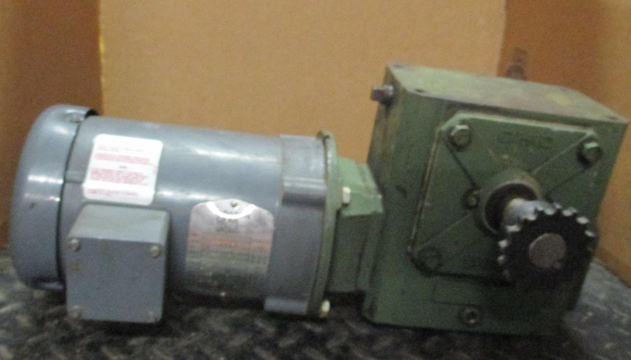 Baldor Gear Motor Mod Gutf B W Ohio Gear Reducer Rpm 1750