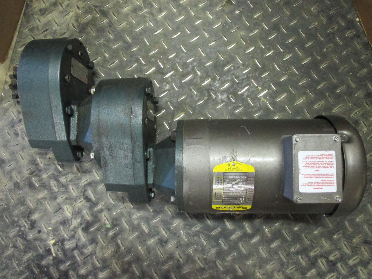 Baldor Motor 2hp With Grove Gear Multipiers Txq2 5 And Txq