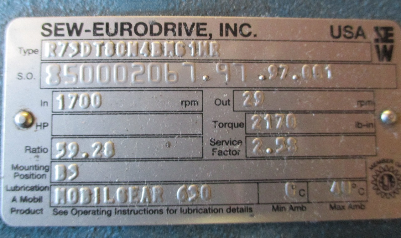 sew eurodrive r73dt80w4bn61nr gear motor reducer ebay