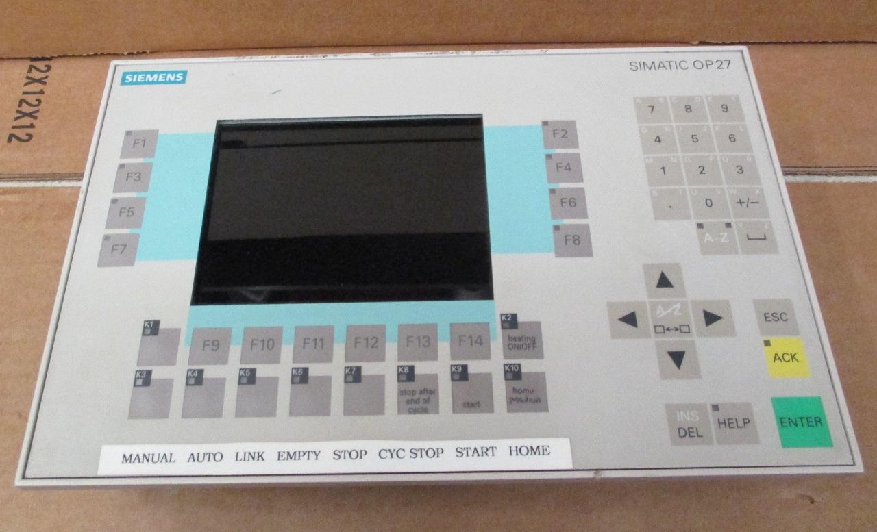 siemens touch operator panel op27 color 6av3627 1lk00 1ax0. Black Bedroom Furniture Sets. Home Design Ideas