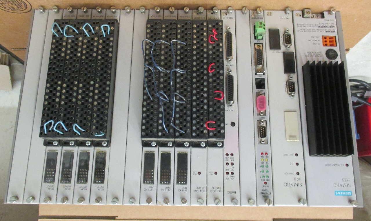 Dis Siemens Simatic Plc Rack With Power Supply And Cards Includes Simatic