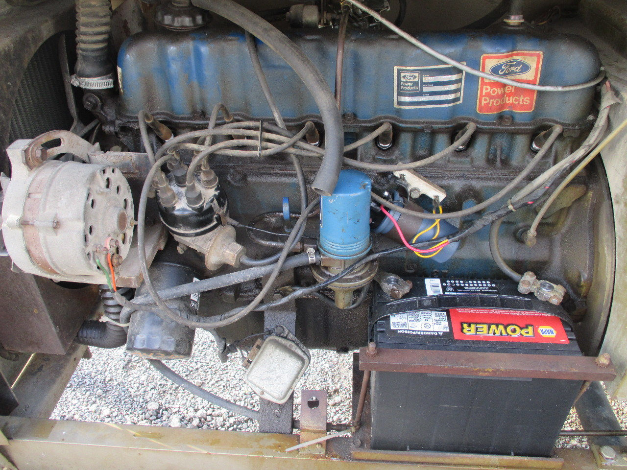 Dis Hobart Welder Gr Trailer Mounted W Ford Cyl Engine