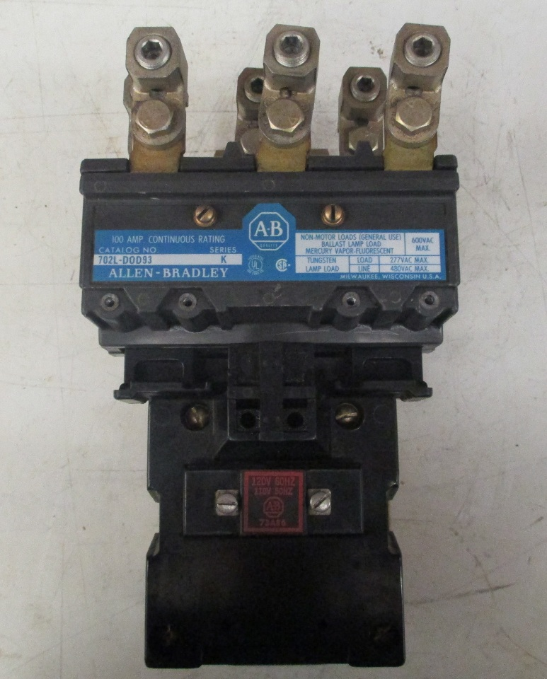 Allen Bradley Lighting Contactor 702L-D0D93 Series K