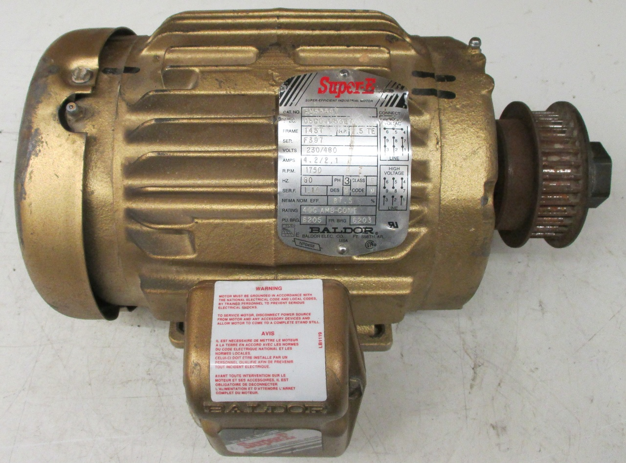 Baldor 1 1 2 hp electric motor em3584t daves industrial for Baldor electric motor parts