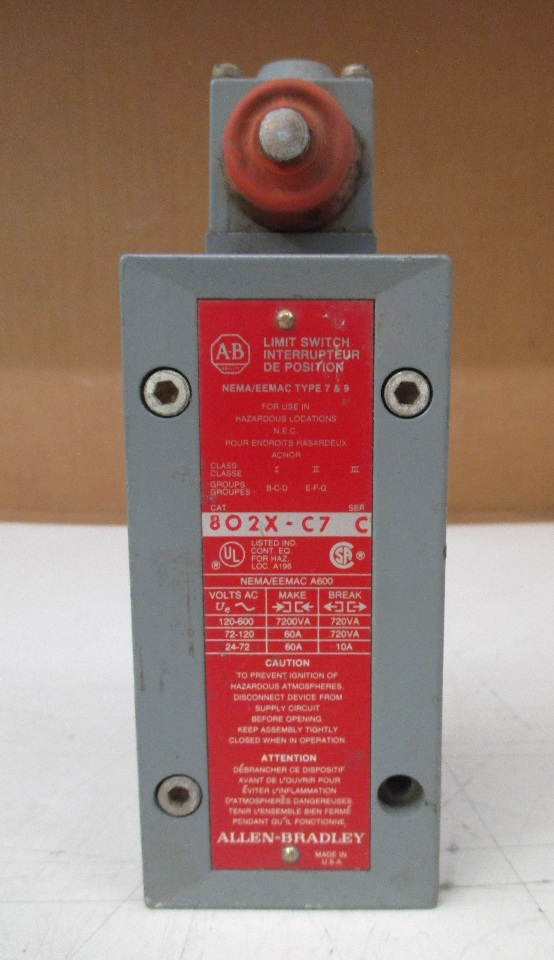 Allen Bradley Limit Switch 802x C7 Series C For Use In