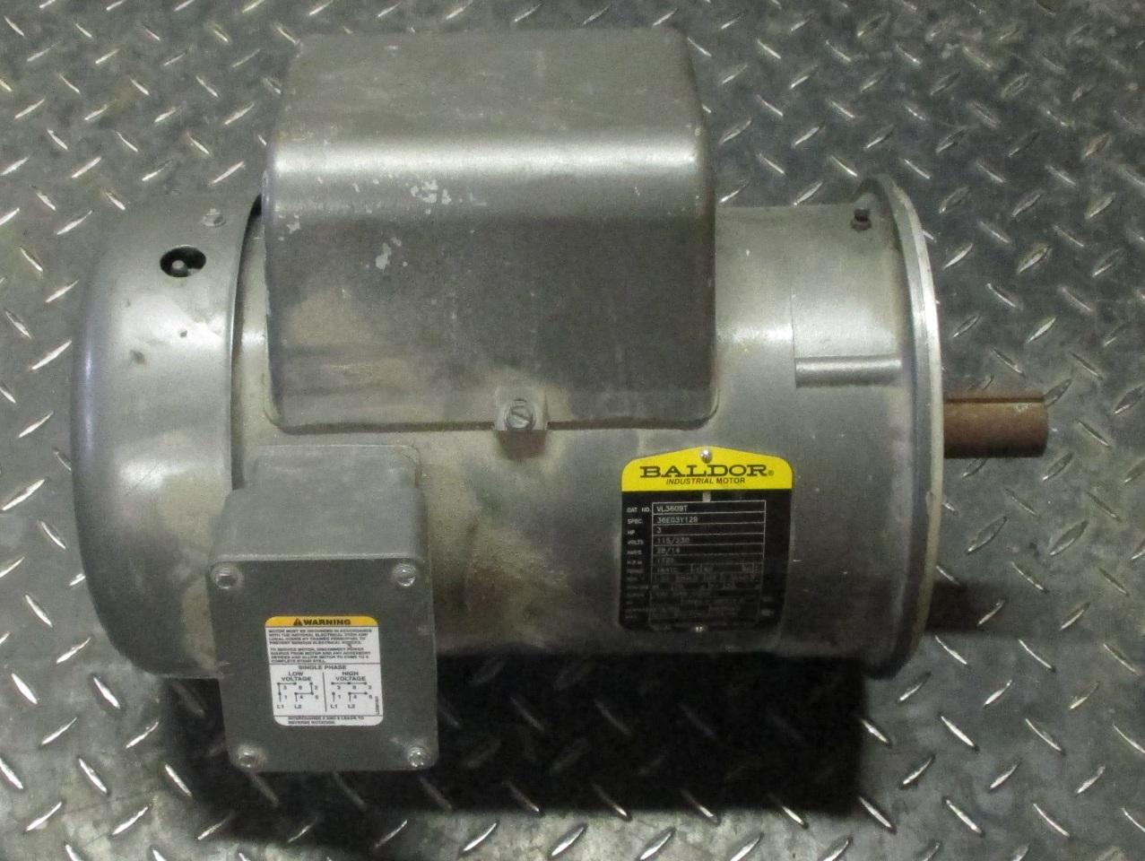 Baldor Ac Motor Vl3609t 3 Hp Daves Industrial Surplus Llc