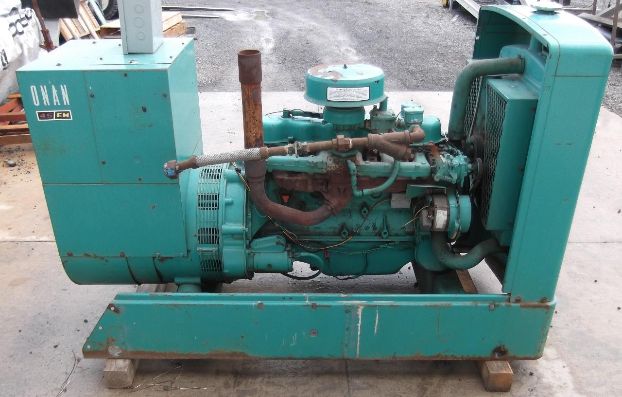 Natural Gas Generator : Onan kw natural gas generator hrs ebay