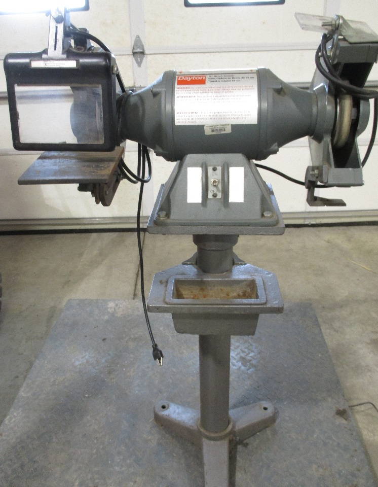 Dayton 10 Bench Grinder With Stand Model 42912b 1 Hp Daves Industrial Surplus Llc