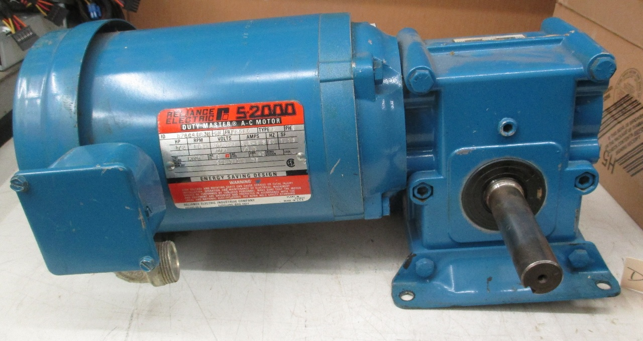 Reliance electric s 2000 1 2 hp ac motor id b78c4183m ow for 1 2 hp ac motor