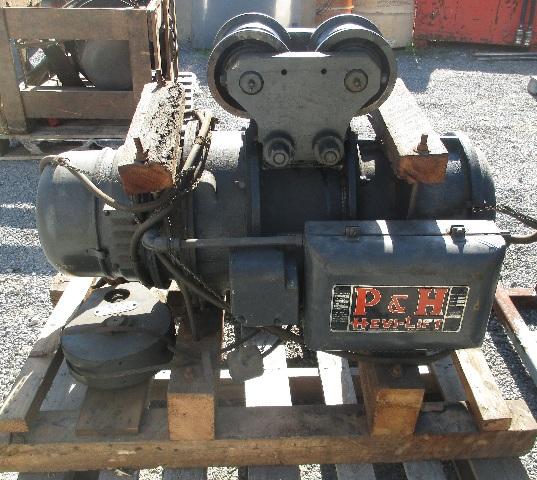 P&H Hevi-Lift 2-Ton Hoist 220 V 3 Phase