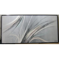 Signed Lee Reynolds Abstact Textured Oil Painting in an Aluminum Frame **Price Reduced**