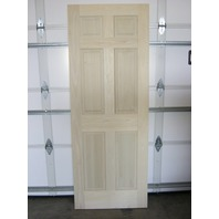 "6 Panel Raised solid Popular Entrance Door w/ damaged edge 32""W x 80""H x 1-1/2""D"