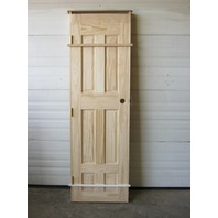 "3 Panel Raised Interior Solid Pine Door Unfinished 23-7/8"" W x 80"" H x 1-1/4"" D"