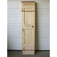 "3 Panel Raised Interior Solid Pine Door Unfinished 17-7/8""W x 80"" H x 1-1/4"" D"