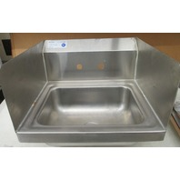 "Serv Ware Stainless Steel Sink 15"" X 17"" X 13 1/2"" Hand Sink HS15S-CWP"