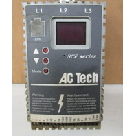AC TECH SF205Y VARIABLE SPEED AC MOTOR DRIVE 0.5 HP  208/240V 3PH 50/60HZ