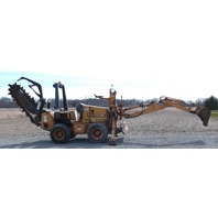 1998 Case 560 Trencher with Carbide Chain, D125 backhoe attachment,6-way backfill blade