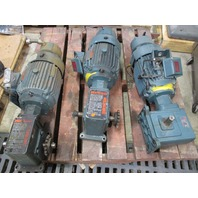 Tigear Gear Reducer R374353 001 QY with Reliance Electric Duty Master  1HP 3 PH Motor with brake 01UBZ6008301G 24SY