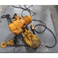 Harrington 1 ton 15 ft. Hoist Model ESB-885 13 fpm with Yaskawa Electric 3 phase 4 pole Motor