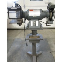 """Dayton 10"""" Bench grinder with stand Model 42912B 1 HP"""