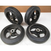 8 X 2 Solid Rubber on Cast Iron Wheel  *Lot of 4*