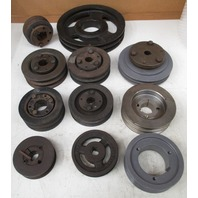 Various sizes of 1 and 2 groove belt trolleys Browning and other brands *Lot of 11*
