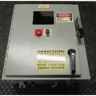 SCE Type 12 Industrial Control Panel Enclosure 21 x 12 x 24; with Allen Bradley 30amp, 600VAC  Line Terminal Guard